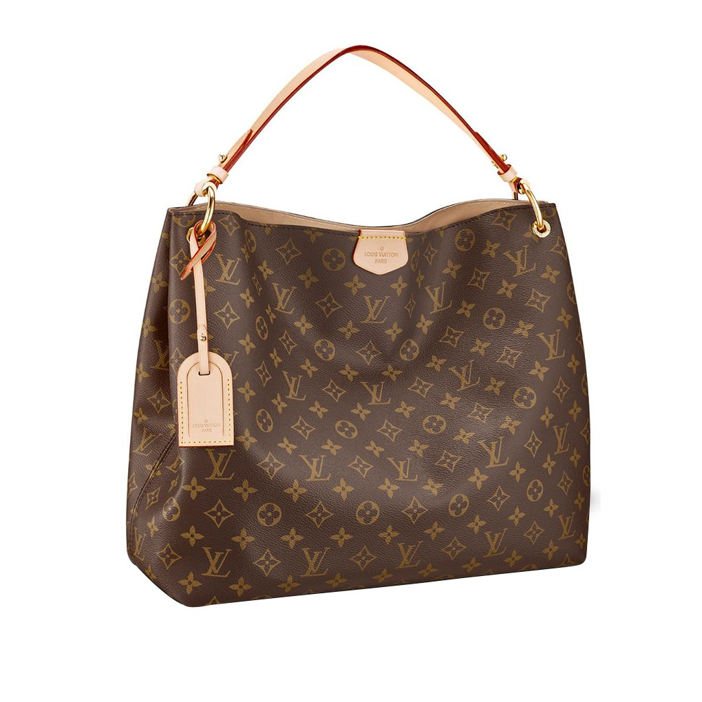 Amazon.com  Louis Vuitton Monogram Canvas Graceful MM Beige Article M43704  Made in France  Clothing 1507f301c8159