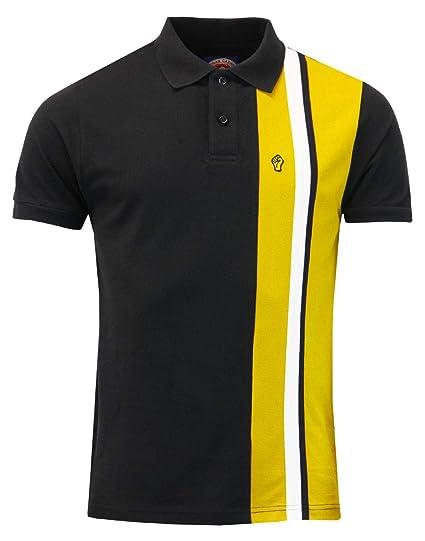 6ad1fbcd Wigan Casino Mens Northern Soul Retro Panel Stripe Polo Shirt WC 2126 -  Black: Amazon.co.uk: Clothing