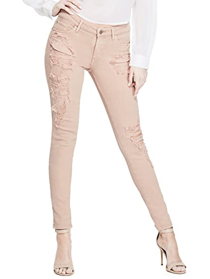 938b78fba5f Guess Women s Garment Dye Destroyed Sexy Curve Jeans