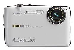 CASIO デジタルカメラ HI-SPEED EXILIM EX-FS10 ホワイト EX-FS10WE