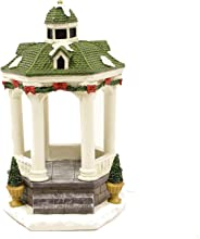Forever Gifts Inc. Christmas Village Light Up Gazebo, with Dome Light, AAA Battery Operated