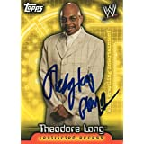Theodore Long Autographed Wrestling Card Teddy WWE Superstar Topps Insider Access #67