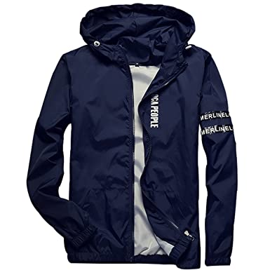 Homaok Men's Lightweight Breathable Jacket at Amazon Men's ...