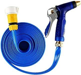 ZHX Tubo de Manguera de jardín Ducha de Agua de la Manguera del Coche/casa Flexible Pistola de Agua Ligera para Lavar Coche/irrigación/Limpieza,Blue,20m: Amazon.es: Hogar