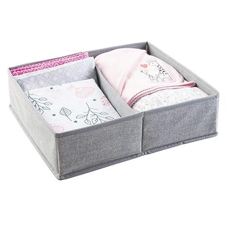 mDesign Organizador para bebe - Cajones organizadores para cosas de mantas, etc. - También puede ser utilizado como caja para guardar juguetes - ...
