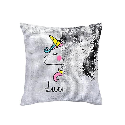 Personalizado Unicornio cojín de Lentejuelas (Personalizado ...
