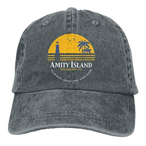 Jaws Amity Island Plain Adjustable Cowboy Cap Denim Hat Women Men