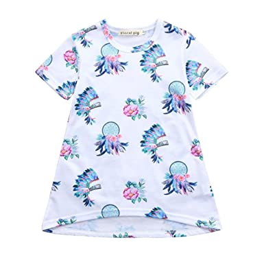01aa06e2a Amazon.com  Kehen Infant Baby Toddler Girl Summer Dress Casual ...