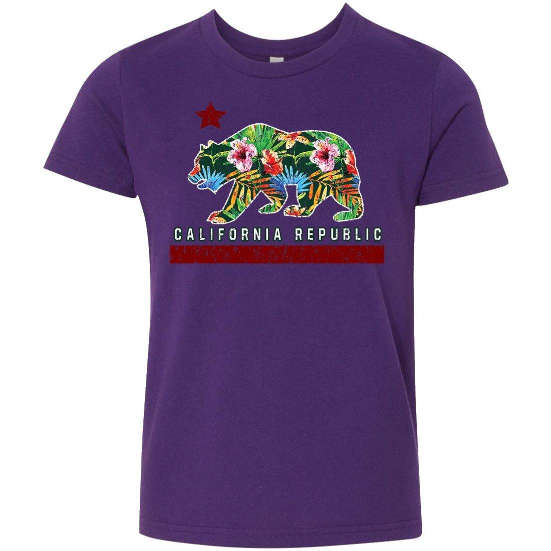California Tropical Paradise Flag Asst Colors Youth T-Shirt//tee