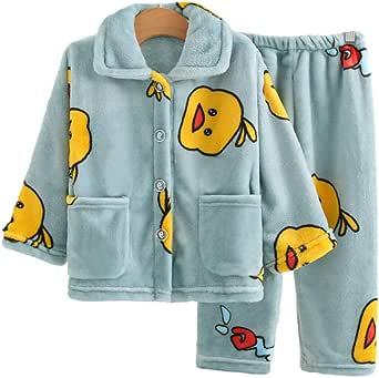 2020 Forro Polar Caliente Pijama Conjuntos para Niños Gruesa Ropa de Niñas Conjunto de Ropa de Niña Lindo PJ Ropa de Dormir