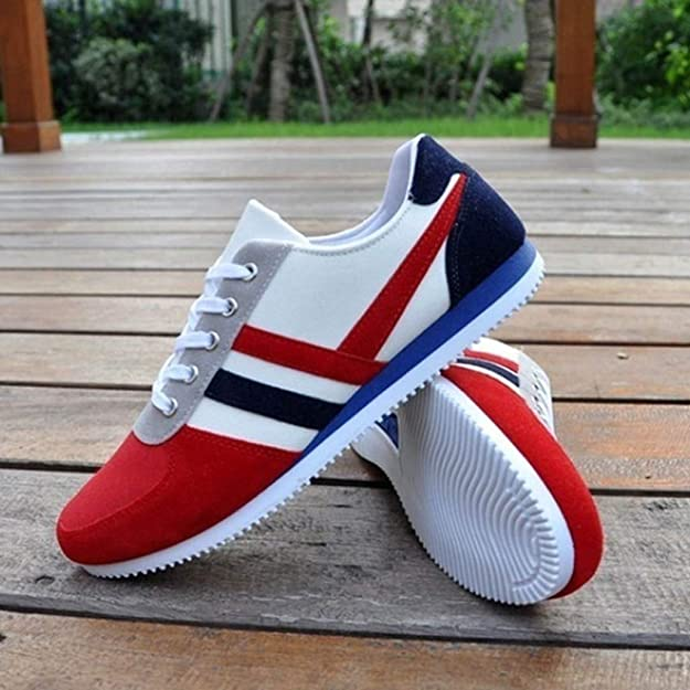 Amazon.com | Mysky Fashion Men Classic Mixed Color Lace Up Soft Flat Canvas Shoes Men Casual Brief Wild Sports Shoes Sneakers | Shoes