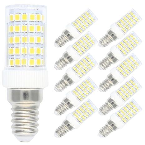 10X Regulable bombillas LED Corn Light E14,10W equivalentes a Lámparas halógenas de 80W,