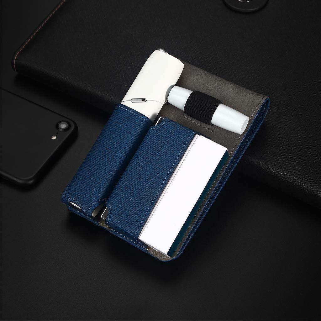 Funda protectora para cigarrillos electr/ónicos 3.0 DENGHENG piel suave azul
