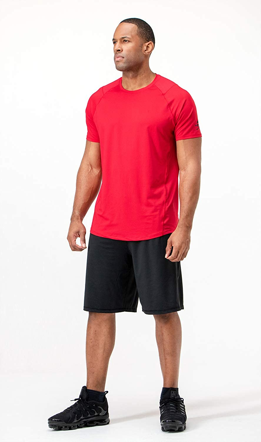 DEVOPS Mens 3 Pack Cool Chain Sports Active Hyper-Dry Workout Short Sleeve T-Shirts