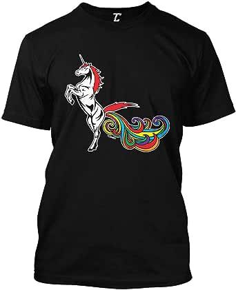 Unicorn Farting Rainbows - Magical Funny Men's T-Shirt ...