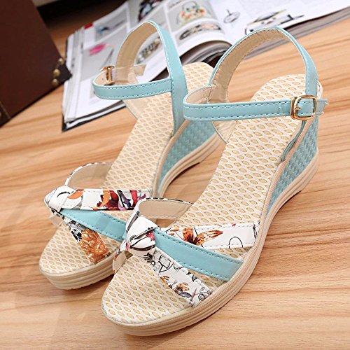 Donna Della Blu Una Shoes Fibbia Parola No Con Da Sandali Onorevoli 55 Cielo Scarpe Semplici fxZw0qT7