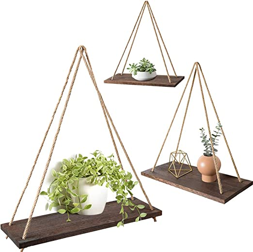 Rustic Reclaimed Weathered Wood Triangle Shelf Bohemian Style Natural Wood