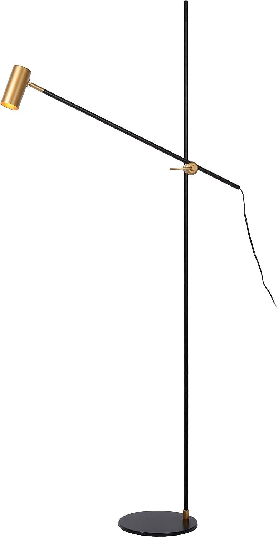 Lucide Philine Stehlampe Mit Leselampe Gu10 Schwarz Amazon
