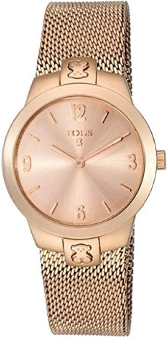 Reloj Tous Tmesh small de acero IP rosado Ref:400350995 Caja 31 mm: Amazon.es: Relojes