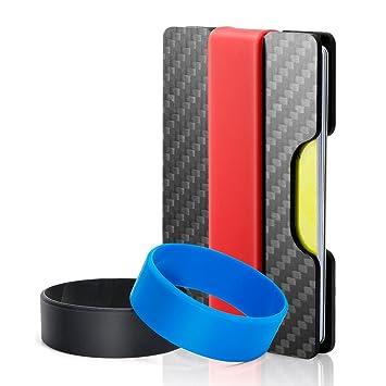 Luxebell PorteCartes De Crédit En Fibre De CarbonePortefeuille - Porte cartes sécurisé protection rfid nfc