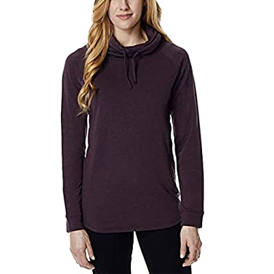 32 Degrees Heat Women's Funnel Neck Top, Heather Puple, XXL