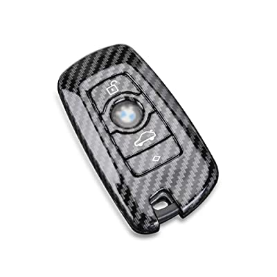 DOHON Key Fob Remote Cover for BMW, Carbon Fiber Key Protective Case for BMW X3 X4 GT3 GT5 1 2 3 4 5 Series, 1pc, Gloosy Black: Automotive