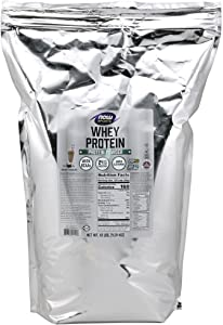 NOW Sports Nutrition, Whey Protein, 24 G With BCAAs, Creamy Chocolate Powder, 10-Pound