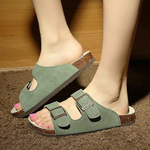 fankou pantofole skid 41 Uomini coppie di estate pantofole numeri scuro grandi anti verde tide cool ciabatte femmina rtrCqB