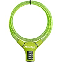 Master Lock Bike Cable Lock [Combination] [90 cm Cable] [Outdoor] [Green] 8229EURDPROGRN - Ideal for Bike, Electric Bike…