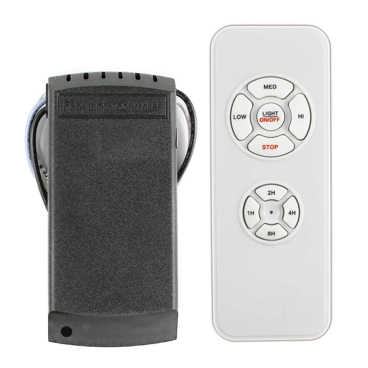 LPHUMEX Universal Ceiling Fan Remote Timing Wireless Control White by LPHUMEX