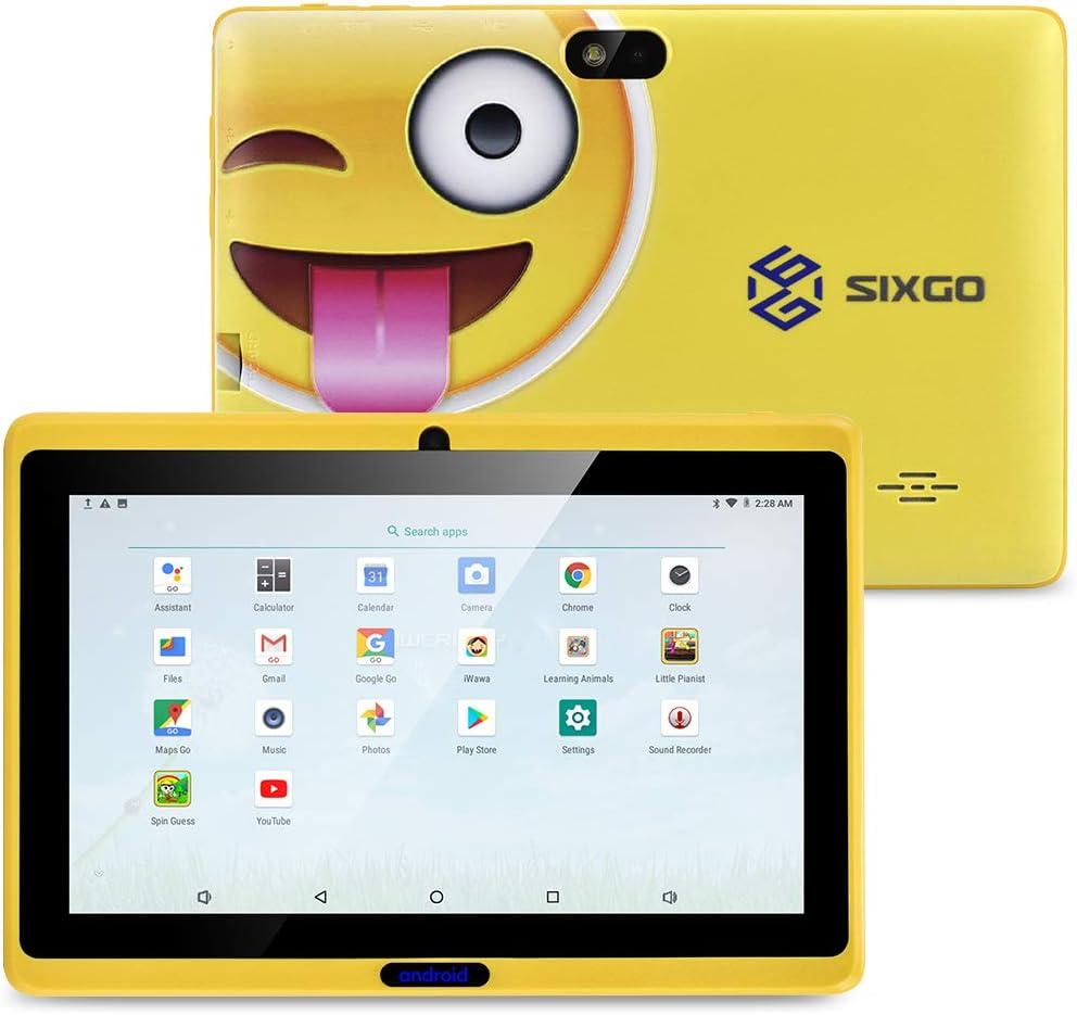Kindertablett, SIXGO 7-Zoll-Android-Pads Kleinkindtablett Kids Edition-Tablet mit WiFi-Doppelkamera