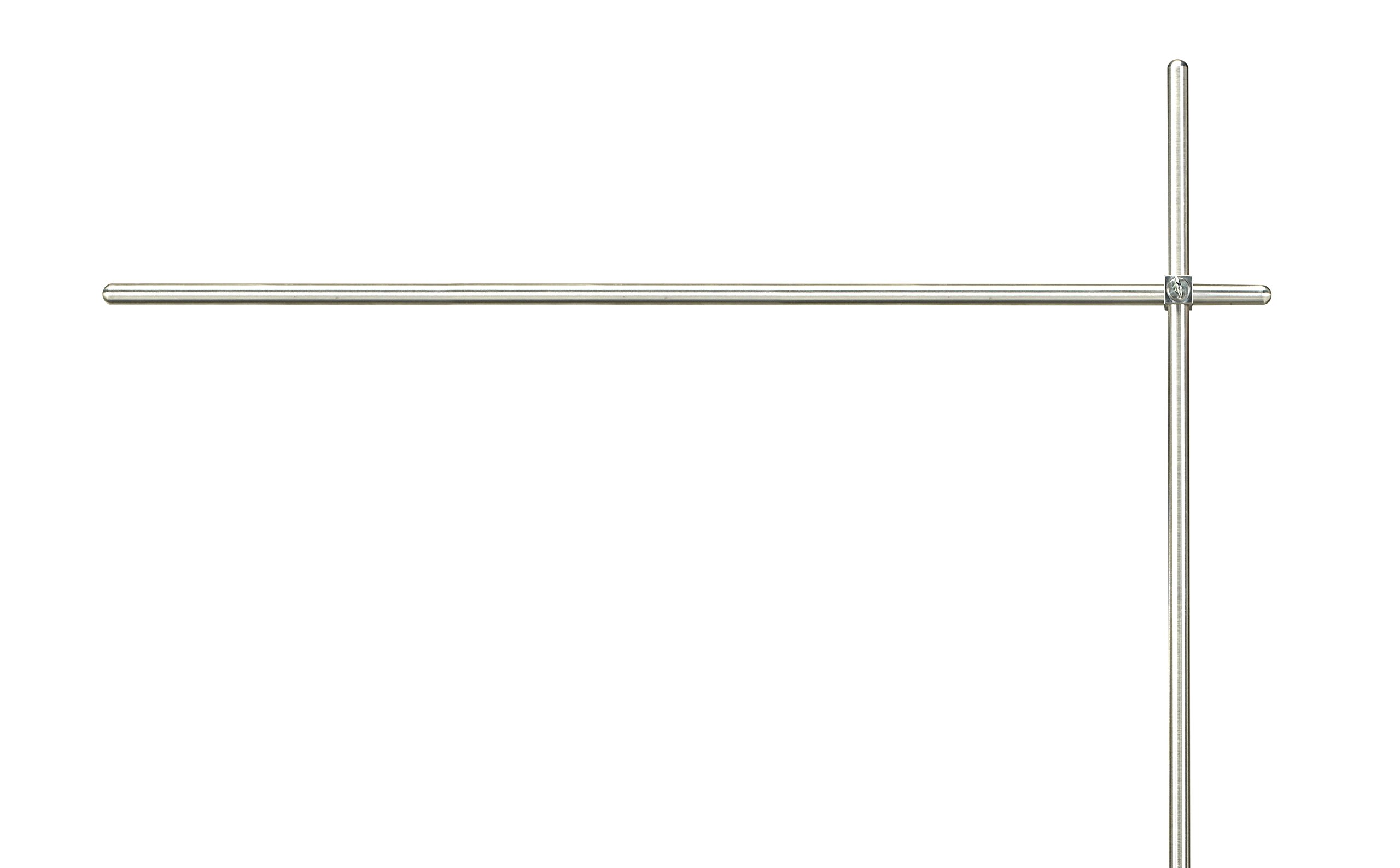 Diversified Woodcrafts 100006 Aluminum Crossbar for Instructors Desk, 3/4'' Diameter x 48'' Length