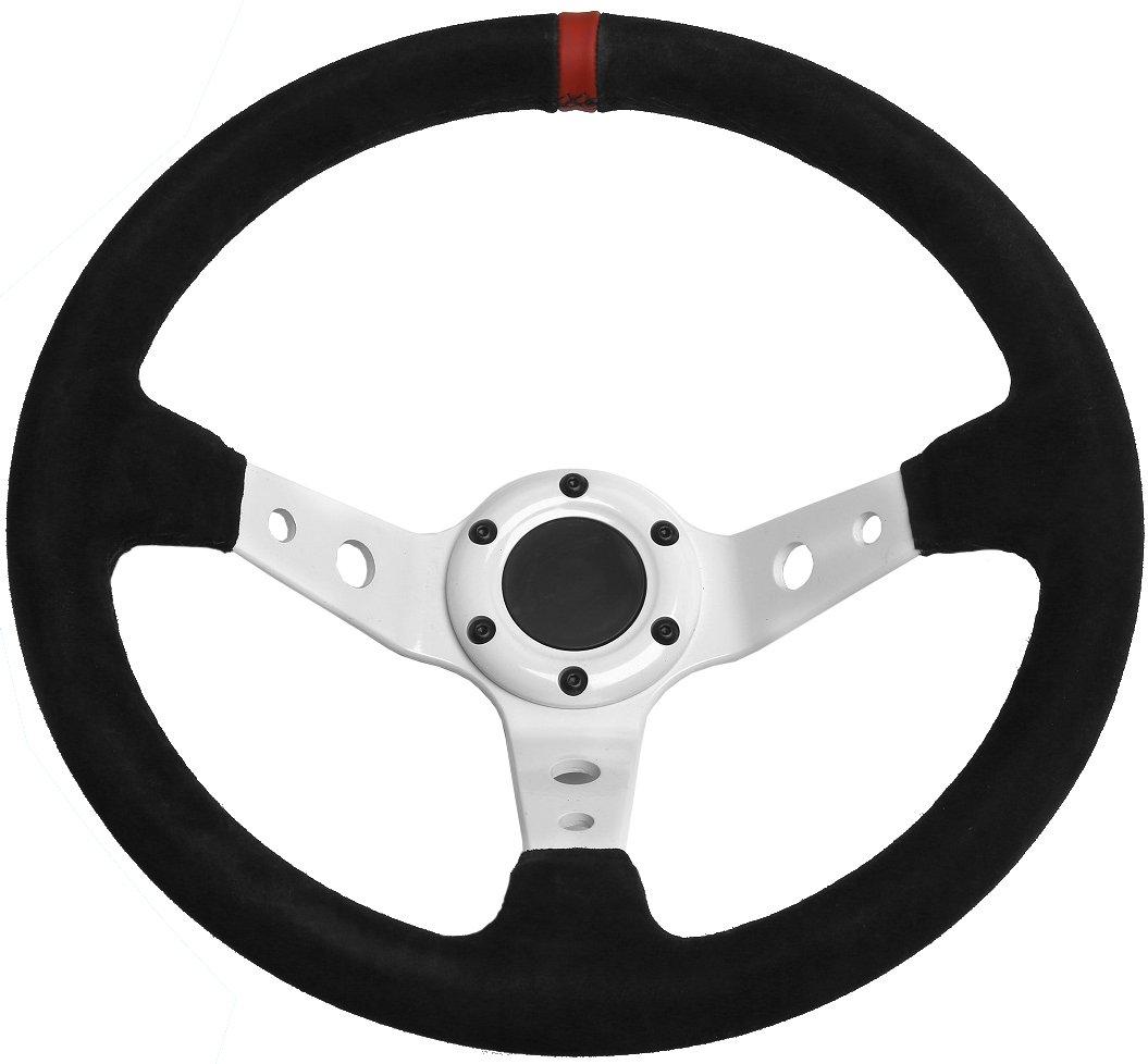 White, 3 STR 13 Rally//Drift//Race Steering Wheel 2 or 3 Dish Black//White//Blue//Red//Green//Silver//Gold
