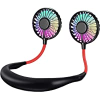 The Card Zoo Portable Sports Neck Hanging Fan with LED Lights
