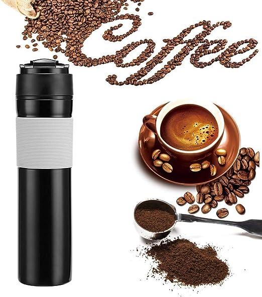 Homie 1 unid Máquina de café a presión Manual Cafetera de té Botella de café prensada Francesa portátil Botella de Filtro de café para la Oficina del Coche: Amazon.es: Hogar