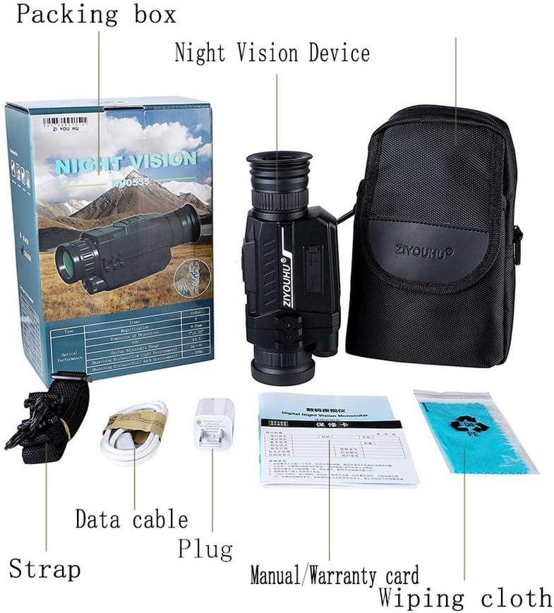 UNJ Infrarrojo de visión Nocturna,HD 720P Visión Nocturna ...