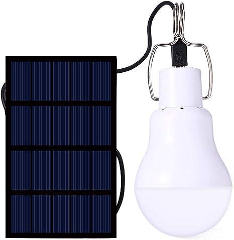 Lamparas Solares, IVYSHION Luz Led Solar Bombilla de LED Solar Portátil Solar Bombilla Lámpara Para al Aire Libre Senderismo Cámping (S-1200)