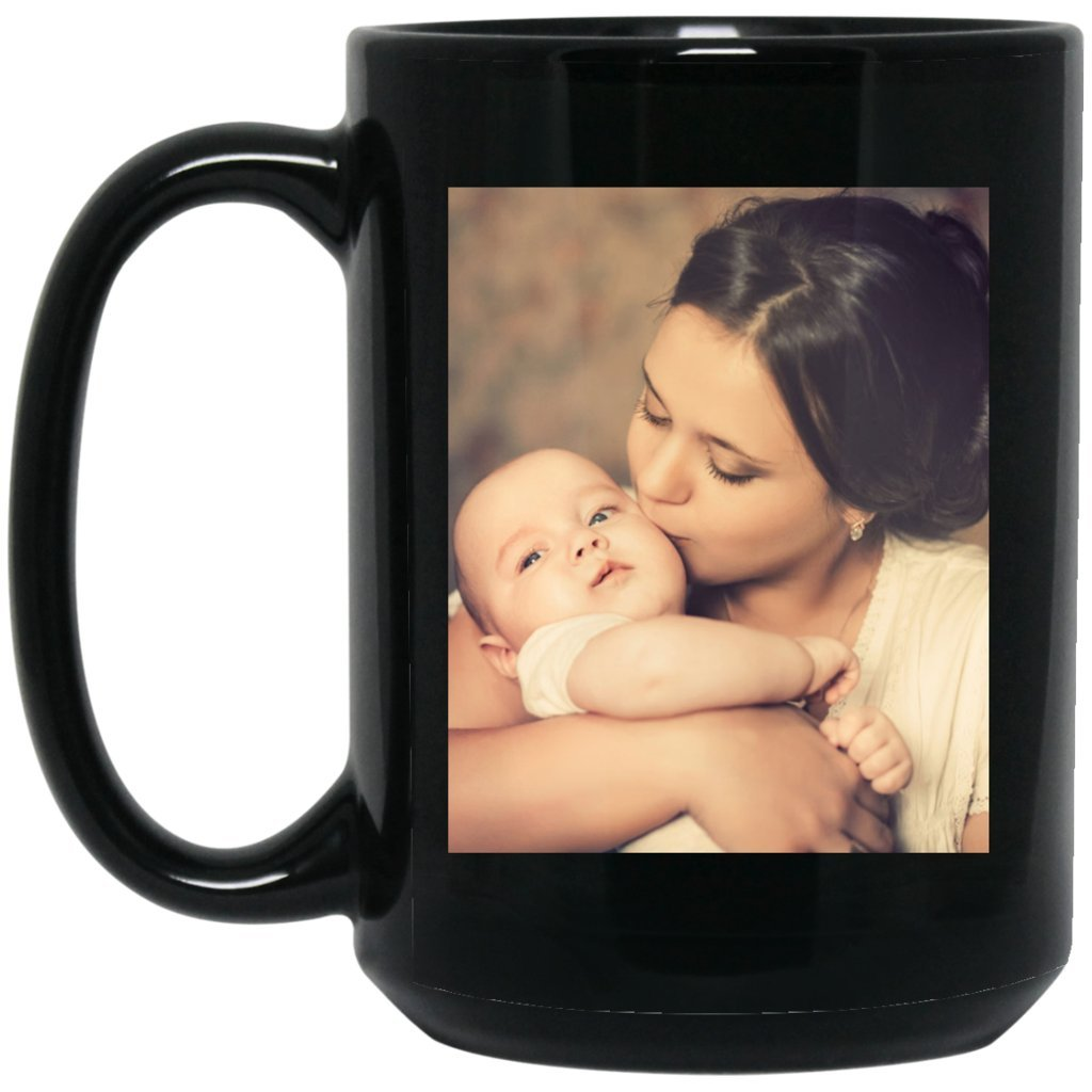 Personalized Coffee Mug for Father Day - Add Your Photo/Logo to Customized Travel, Beer Mug - Great Quality for Gift (Black, 15 oz) by BestEquips (Image #4)