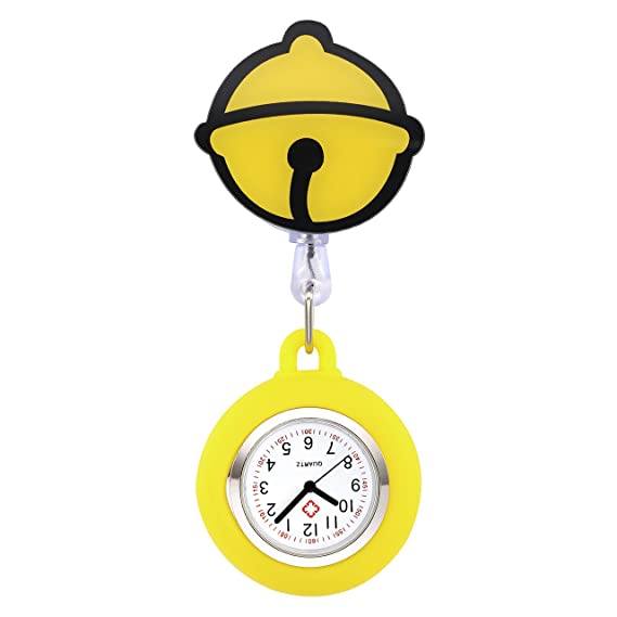 manifo Relojes Enfermeras FOB Reloj Pulso Reloj Nurse Watch Bata Reloj silicona dibujos animados Campana Reloj