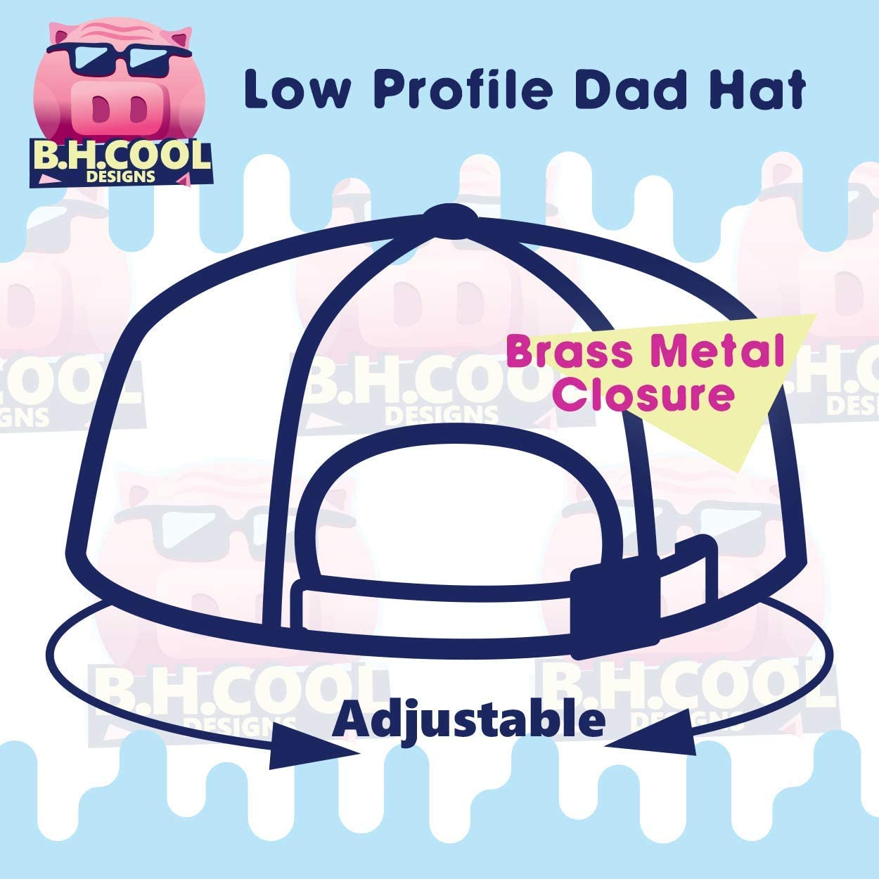 BH Cool Designs #Escondido Comfortable Dad Hat Baseball Cap