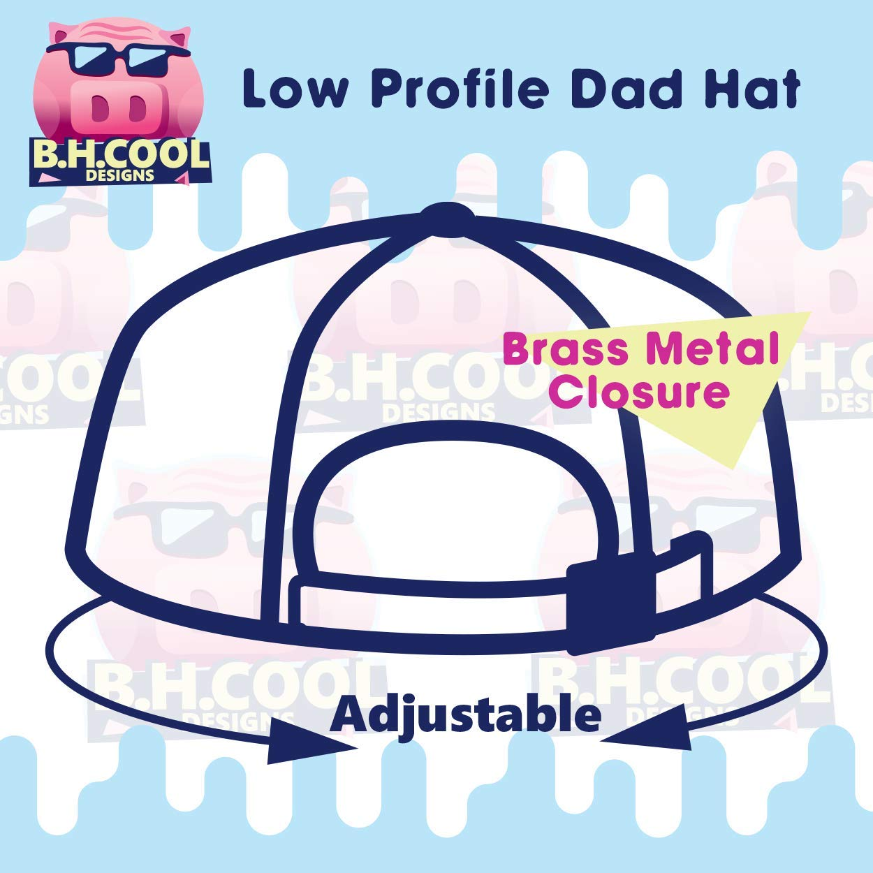 Comfortable Dad Hat Baseball Cap BH Cool Designs #oriel