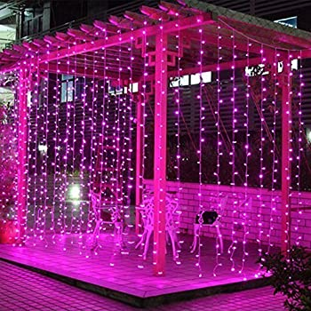 Valuetom  Led Curtain Lights Fairy String Twinkle Lighting For Party Wedding Home Garden Decoration Ft Pink