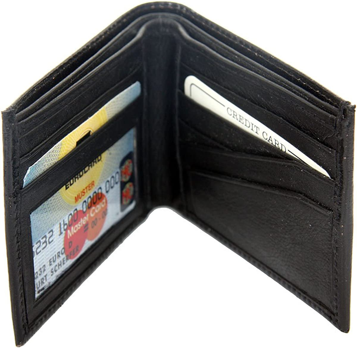 Mens Crocodile Embossed Credit Card Id Cowhide Leather Wallet/4.5x3.5 inches