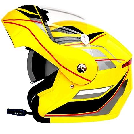 LGF Helmet Sonido Bluetooth Casco de Motocicleta Anti-Niebla y Lluvia Casco de Moto Alta