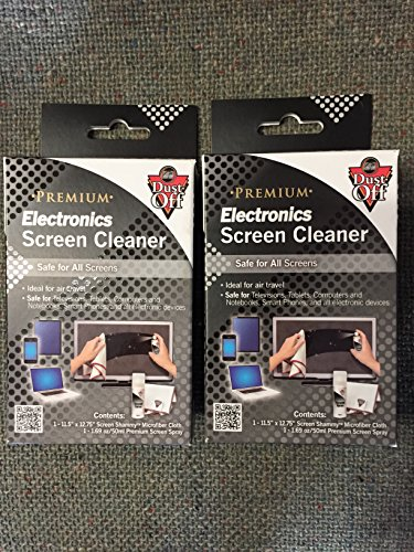 LOT OF 2 BOXES!! Falcon DUST OFF Premium Electronics Screen Cleaner by Dust-Off