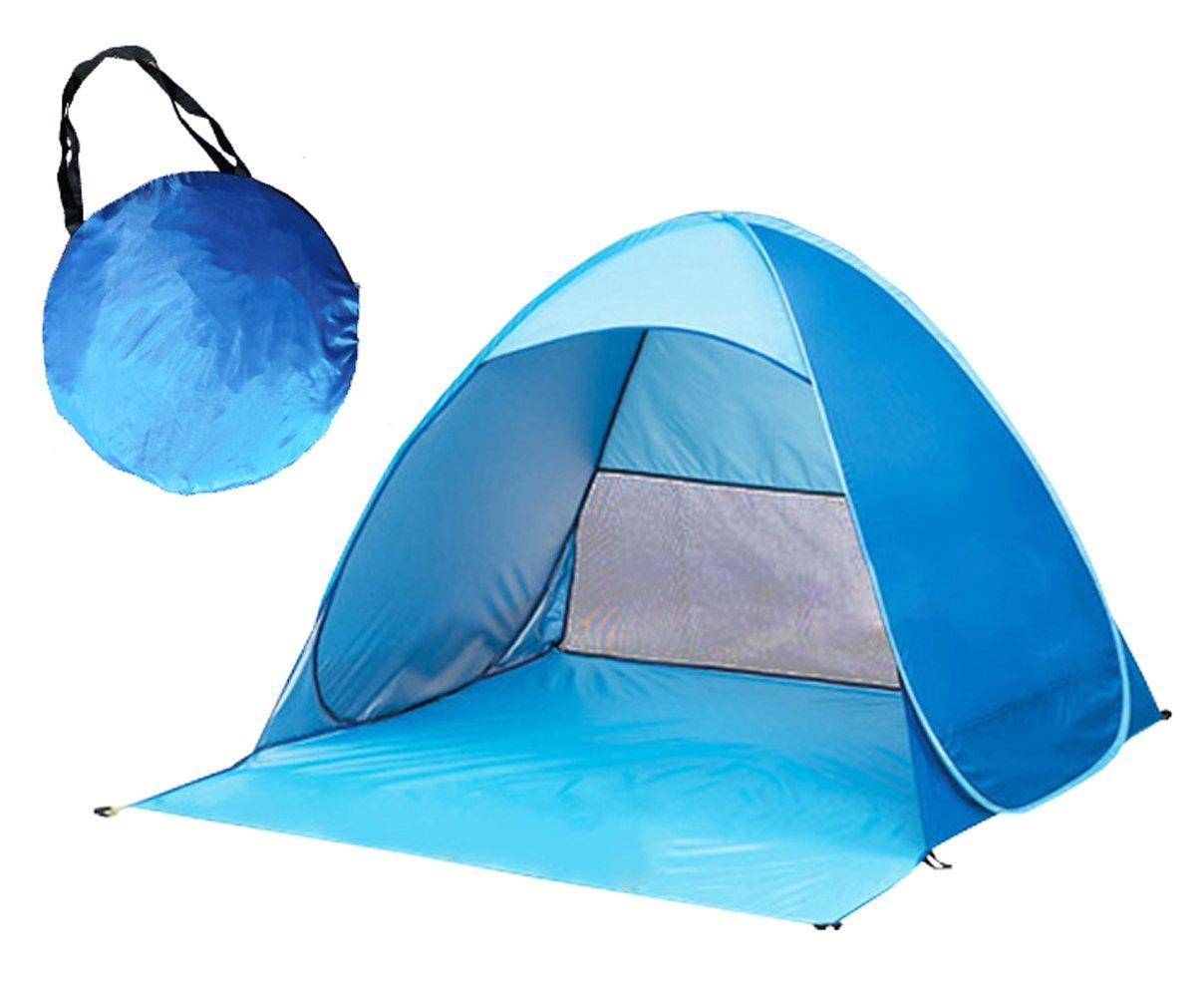 SZJH - Tente de plage instantanée anti-UV (50+ UPF) HW0002 Green 65*59*43.3