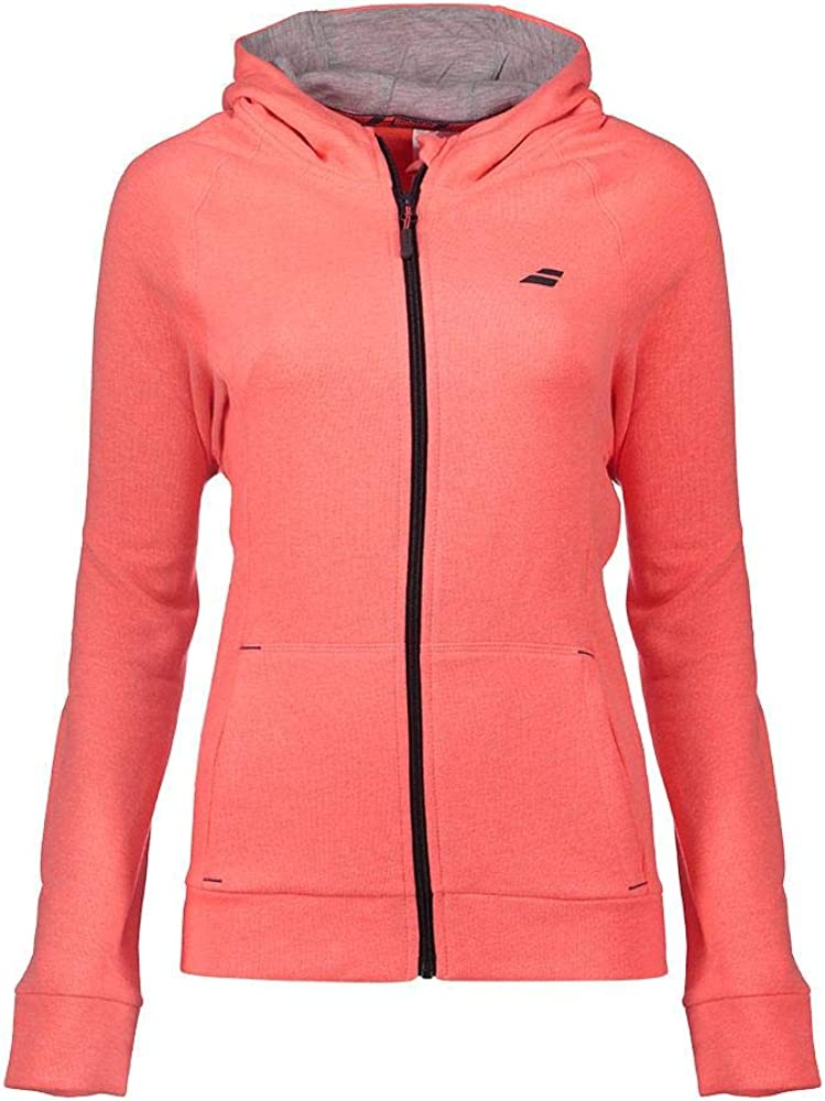 Babolat Damen Core Hood Sweat Women Sweatshirt Fluo Strike Hthr