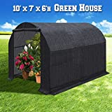 BenefitUSA Large Green House Walk In Garden Greenhouse Outdoor Canopy Gazebo Plant House (10'x7'x6', Black)