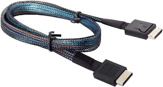 OCuLink PCIe PCI-Express SFF-8611 4i auf OCuLink SFF-8611 SSD Datenkabel 50cm