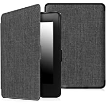 Fintie Case for Kindle Paperwhite - The Thinnest and Lightest Premium Fabric Cover Auto Sleep/Wake for All-New Amazon Kindle Paperwhite (Fits All 2012, 2013, 2015 and 2016 Versions), Denim Charcoal